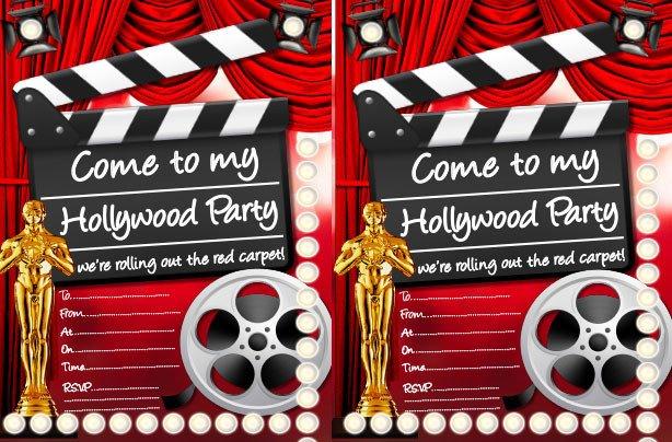 Hollywood themed Invitations Free Templates Hollywood Party Ideas Goodtoknow