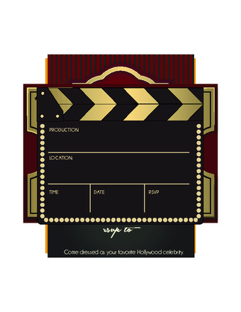 Hollywood themed Invitations Free Templates How to Throw A Hollywood Party 15 Steps with