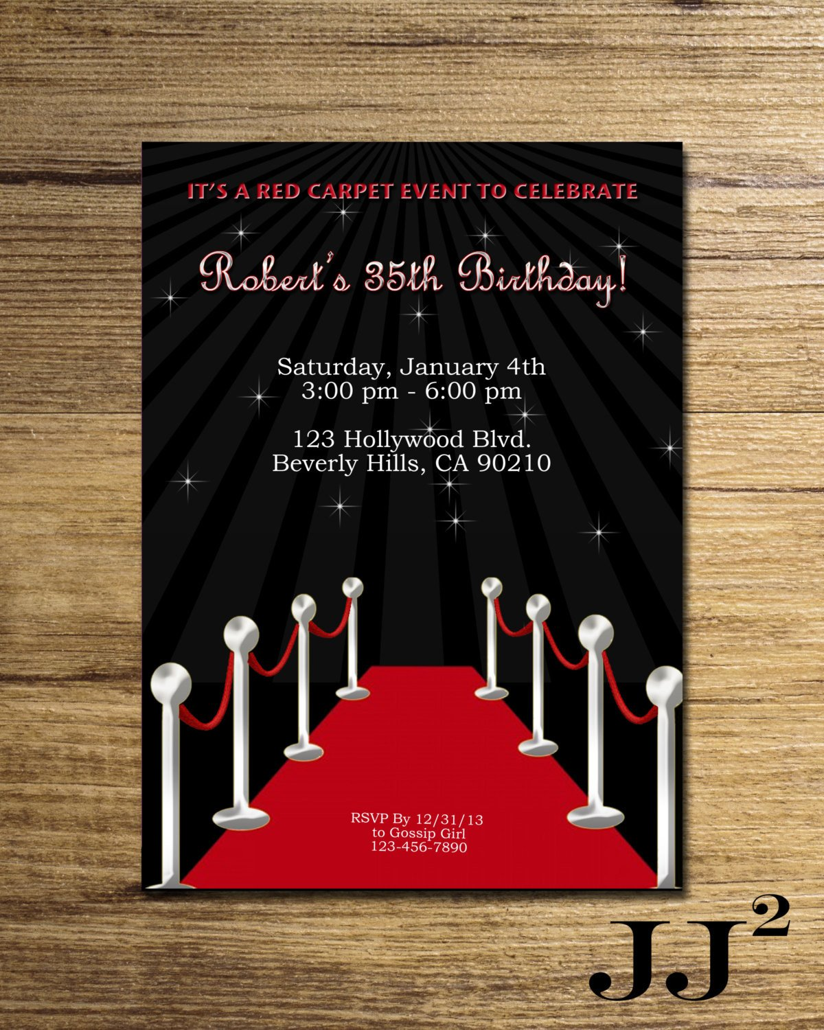 Hollywood themed Invitations Free Templates Red Carpet Birthday Party Invitation Glam Hollywood