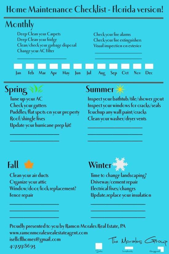 Home Maintenance Checklist Printable 17 Best Ideas About Home Maintenance Checklist On