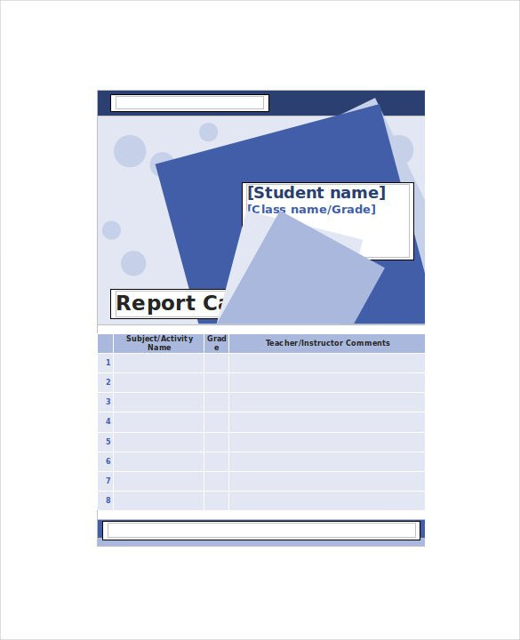 Homeschool Report Card Template Word Homeschool Report Card Template 6 Download Documents In