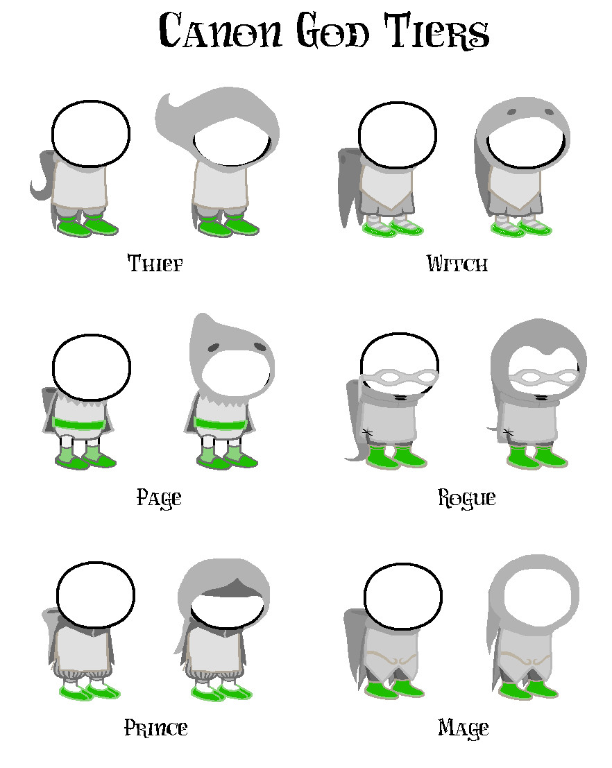 Homestuck Sprite Template References for All Things Homestuck Auditorycore God