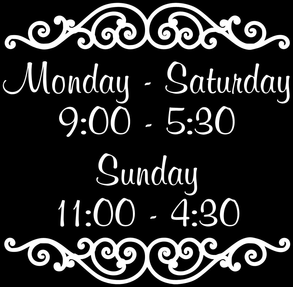 Hours Of Operation Template Custom Store Business Hours Store Hours Business Sign