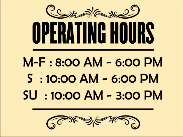 Hours Of Operation Template Design Ideas Imprint