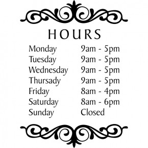 Hours Of Operation Template Hours Of Operation Sign F Store Hours Signs Open