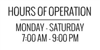 Hours Of Operation Template Store Hours Signs & Templates for Magnets