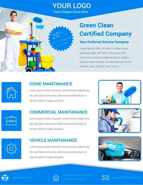 House Cleaning Flyers Templates Free Download Free Cleaning Service Flyer Psd Template for