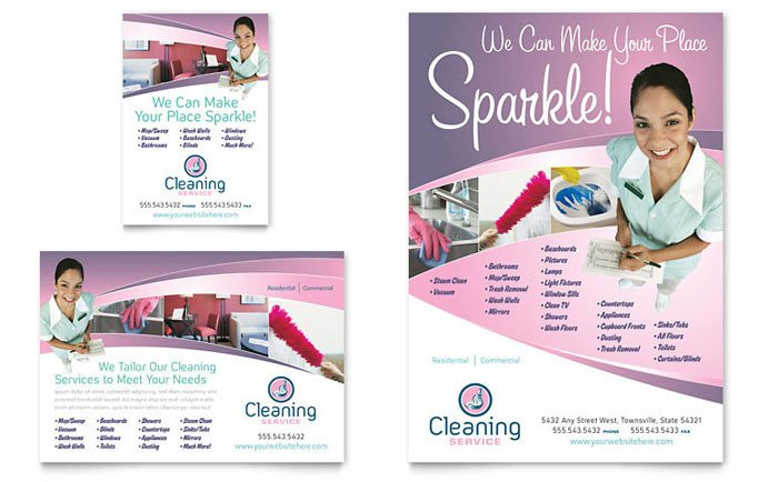 House Cleaning Flyers Templates Free House Cleaning & Maid Services Flyer & Ad Template Design