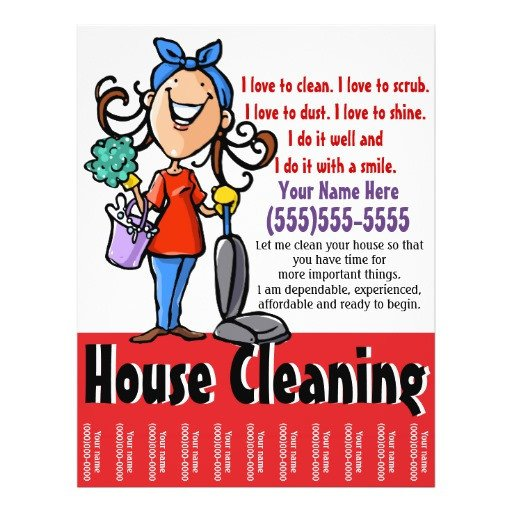House Cleaning Flyers Templates Free House Cleaning Free Printable House Cleaning Flyers