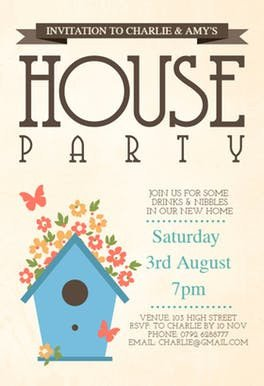 Housewarming Invitation Template Microsoft Word butterflies & Flowers Free Housewarming Invitation