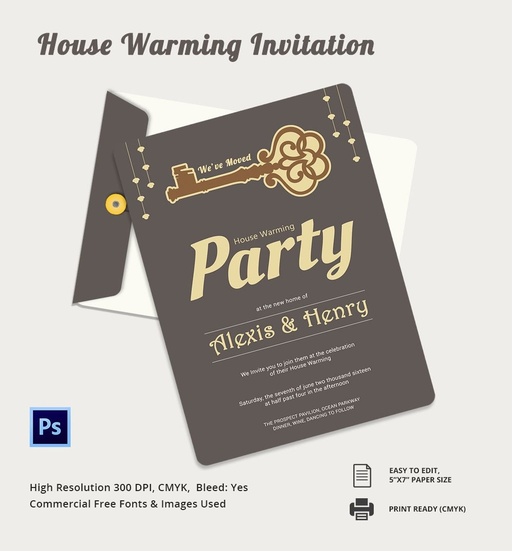 Housewarming Invitation Template Microsoft Word Housewarming Invitation Template 30 Free Psd Vector