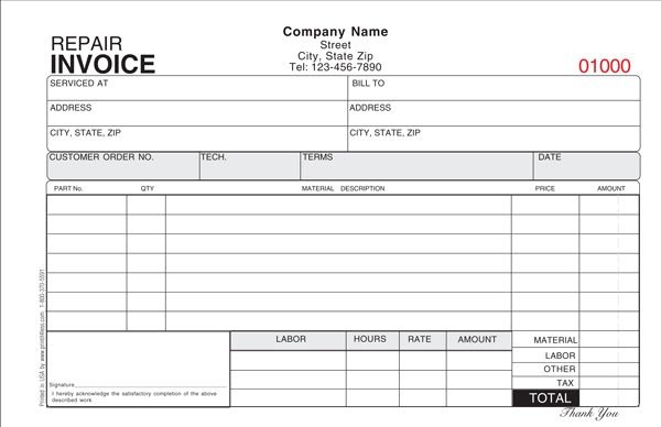 Hvac Work order Template Air Conditioning Repair Invoice Template 12 Advice that