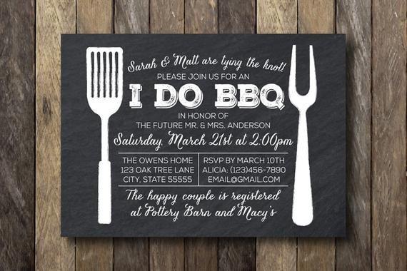 I Do Bbq Invitations I Do Barbecue Invitation Engagement Party by thelionandthelark