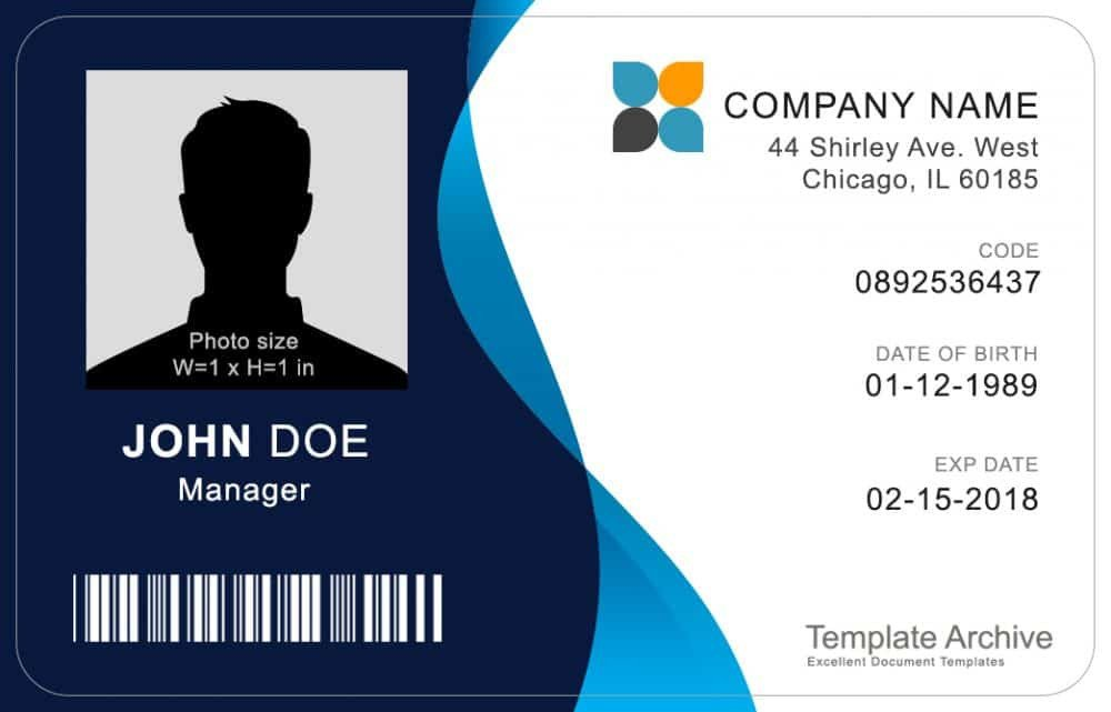 Id Badge Template Free Online 16 Id Badge & Id Card Templates Free Template Archive