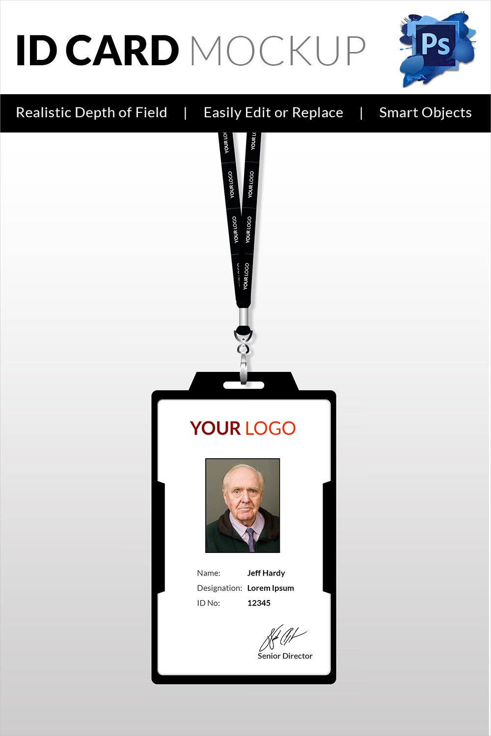 Id Badge Template Free Online 18 Id Card Templates – Free Psd Documents Download