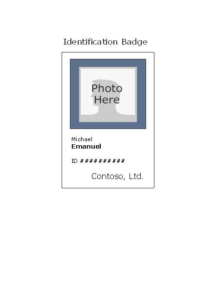 Id Badge Template Free Online Employee Photo Id Badge Portrait