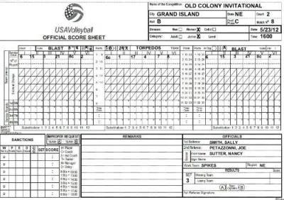 Ihsa Volleyball Lineup Sheet Ihsaa Basketball Score Sheet