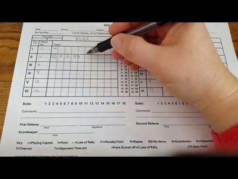 Ihsa Volleyball Lineup Sheet Scoreboard Tutorial Basketball