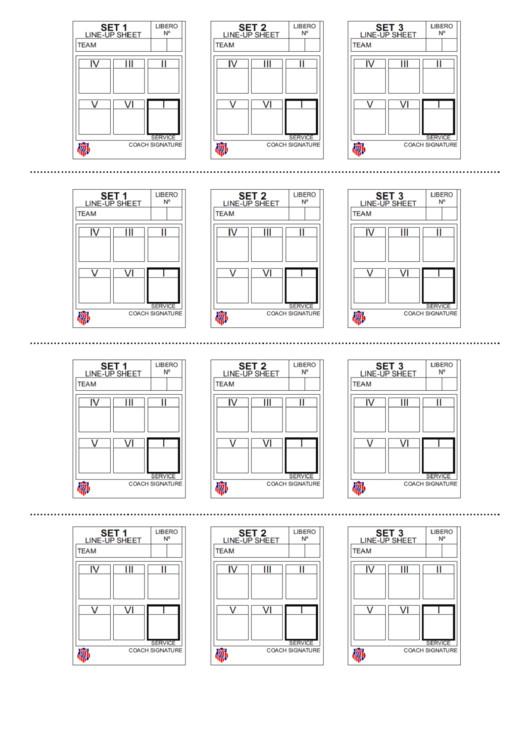 Ihsa Volleyball Lineup Sheet Volleyball Lineup Sheet Printable Pdf