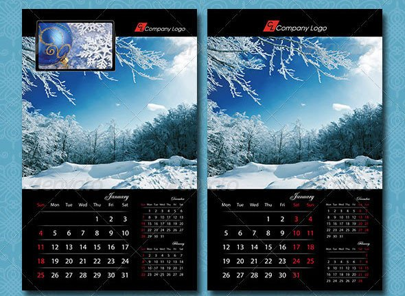 16 Calendar Indesign Templates For Year 2015 – Design Freebies