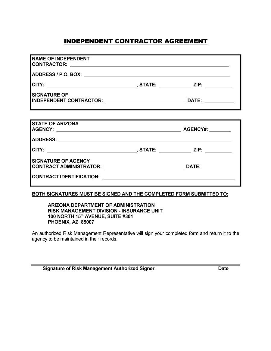 Independent Contractor Contract Template 50 Free Independent Contractor Agreement forms & Templates