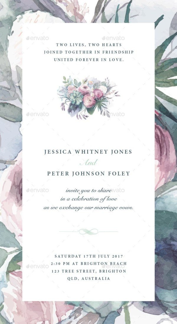 37 Awesome PSD & InDesign Wedding Invitation Template