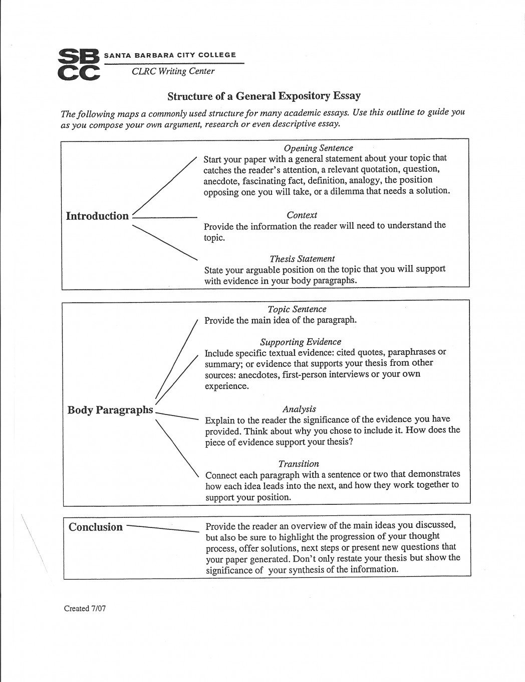 Informative Essay Outline 5Th Grade