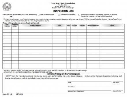 30 Inspection Log Sheet   Simple Template Design