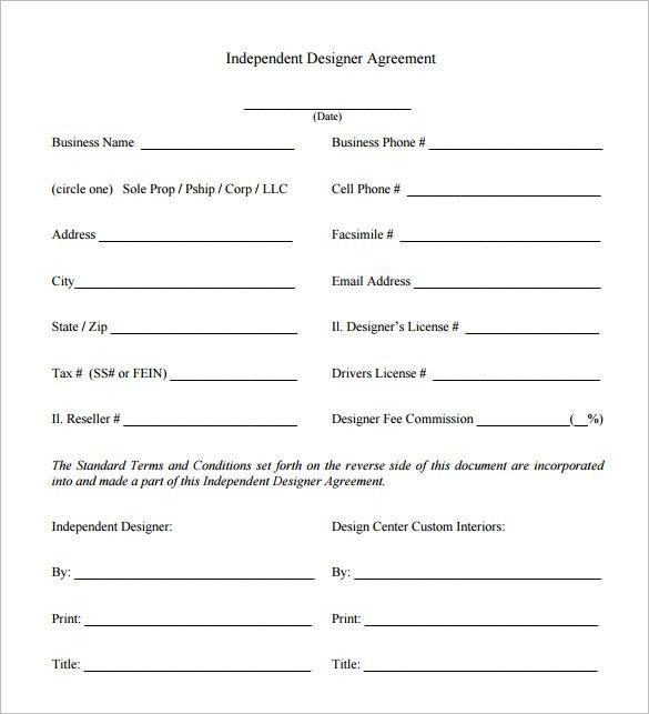 Interior Design Contract Sample 6 Interior Designer Contract Templates – Free Word Pdf