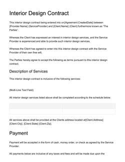 Interior Design Contract Sample Document & Contract Templates [200 Free Examples] Edit