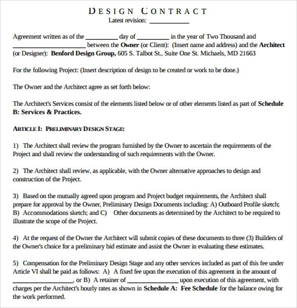Interior Design Contract Sample Sample Interior Design Proposal Template 16 Free