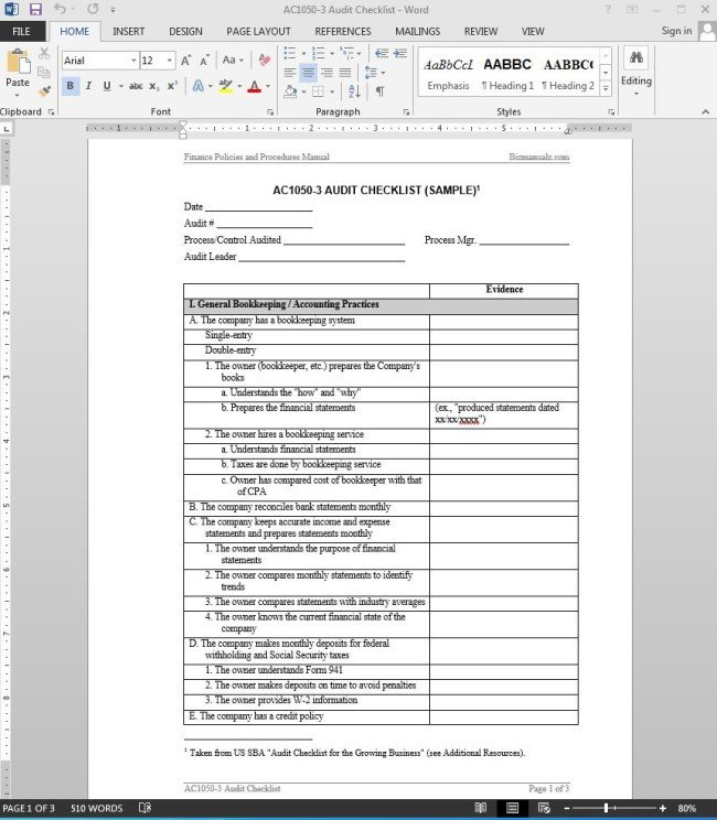 Internal Audit Checklist Template Excel 38 Brilliant Template Samples for Audits Thogati