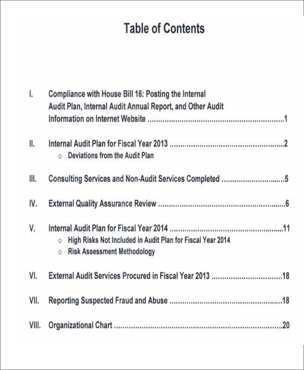 Internal Audit Report Samples 15 Sample Internal Audit Reports Word Pdf Pages