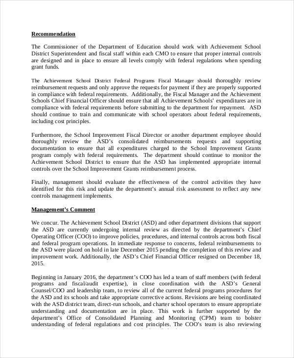 Internal Audit Report Samples 16 Audit Report Examples Pdf Docs Pages