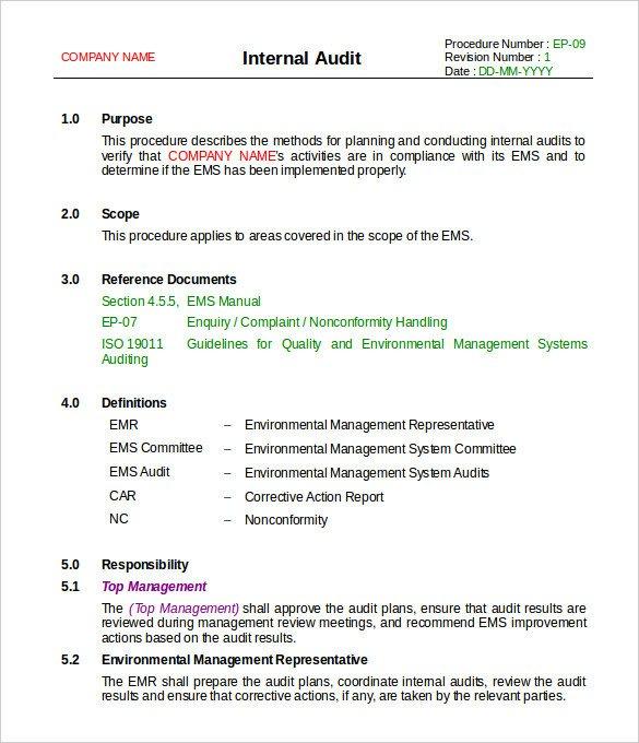 Internal Audit Report Samples 20 Internal Audit Report Templates Word Pdf Apple