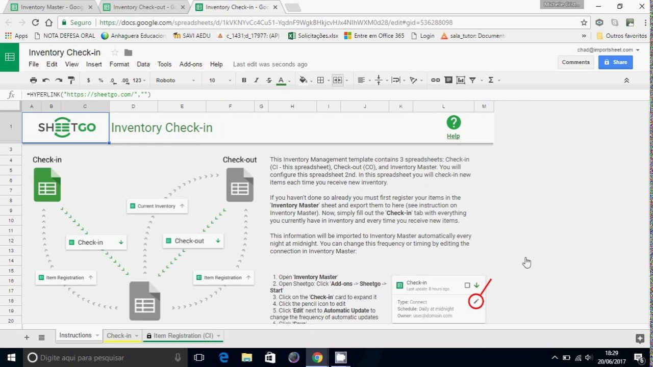 Google Sheets Inventory Management Template