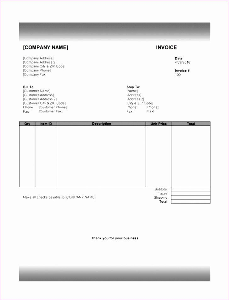 Invoice Templates for Macs 6 Invoice Template Excel Mac Exceltemplates Exceltemplates