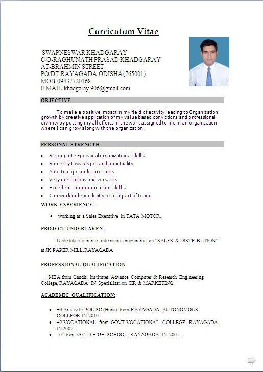 It Resume Template Word Download Resume format & Write the Best Resume