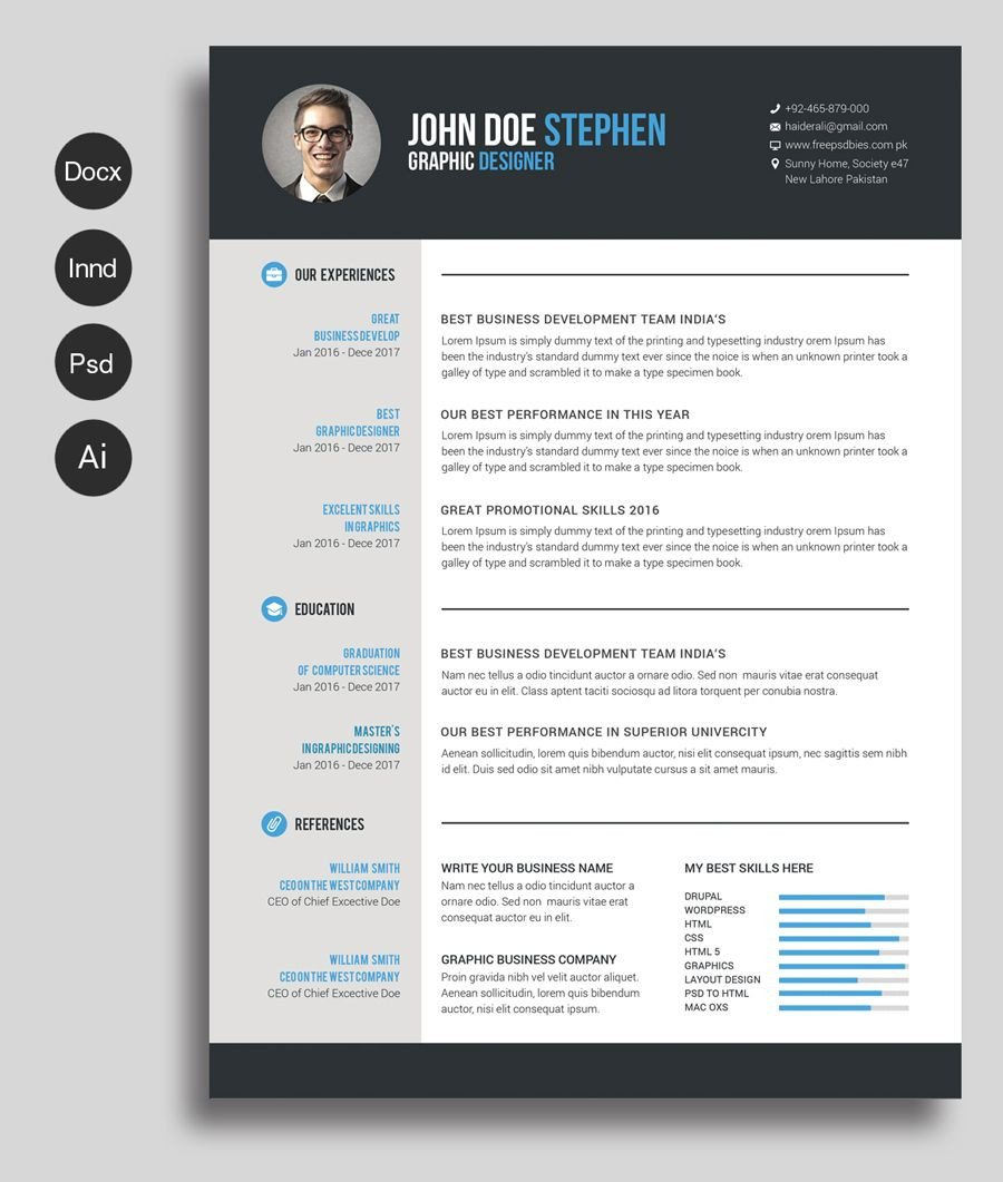 It Resume Template Word Free Ms Word Resume and Cv Template