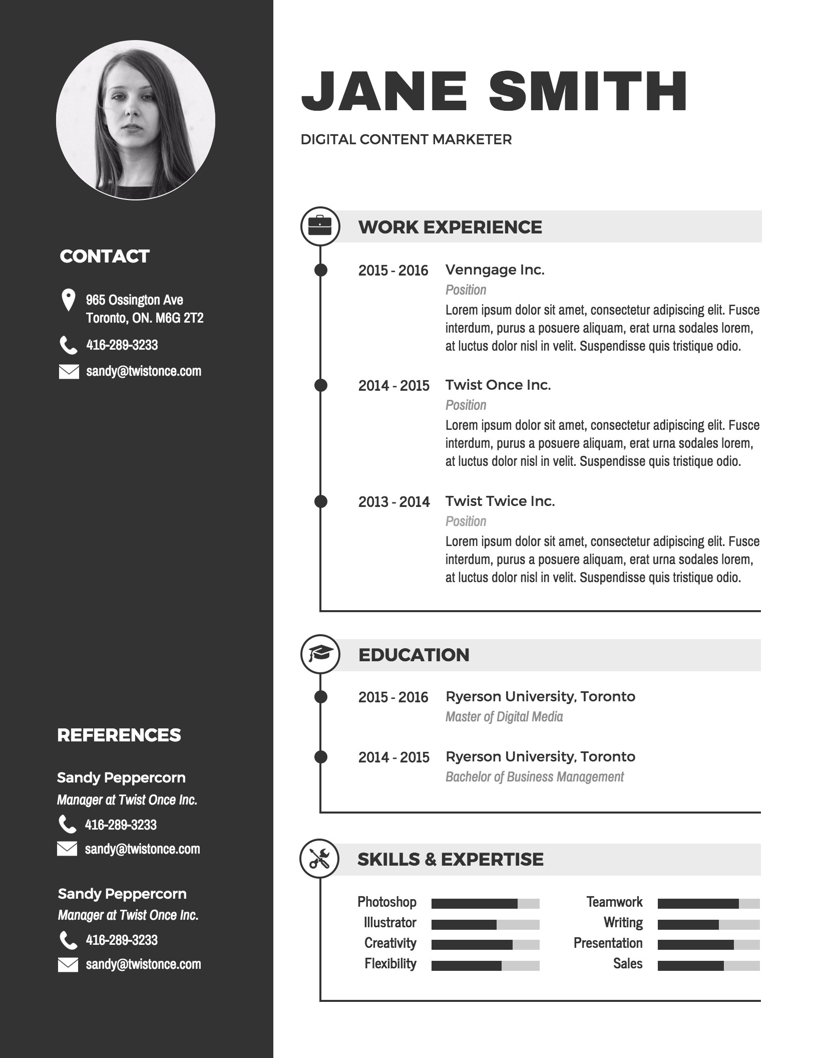 It Resume Template Word Infographic Resume Template Venngage