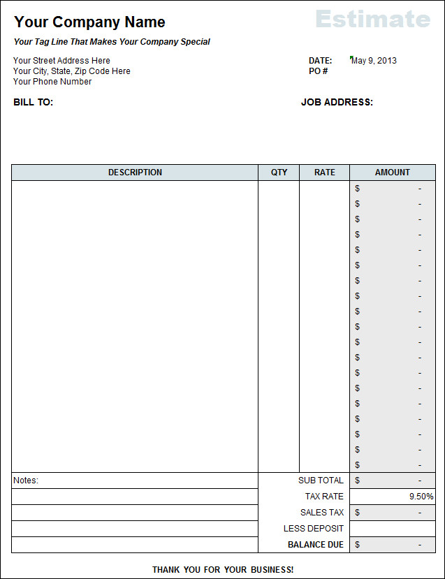 Itemized Fee Worksheet Excel Itemized Home Cleaning Invoice