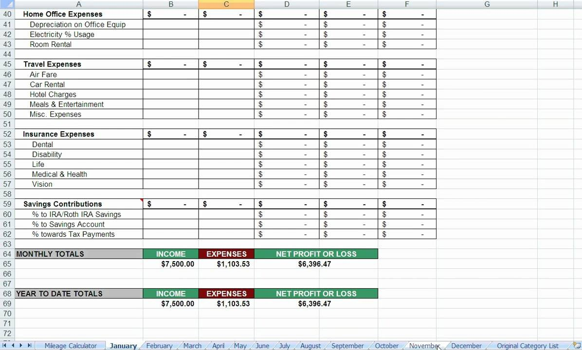 Itemized Fee Worksheet Excel Realtor Itemized Tax Deductions Wmv
