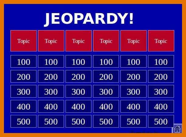 Jeopardy Template with sound 9 10 Printable Jeopardy Template