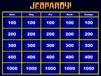 Jeopardy Game Maker Great for whole class review