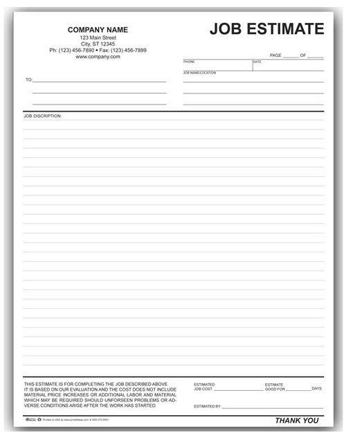 Job Estimate Template Pdf Landscaping Work order form [794]