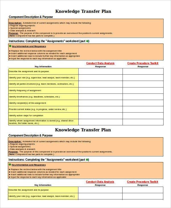 Job Transition Plan Template 8 Transition Plan Templates Word Pdf