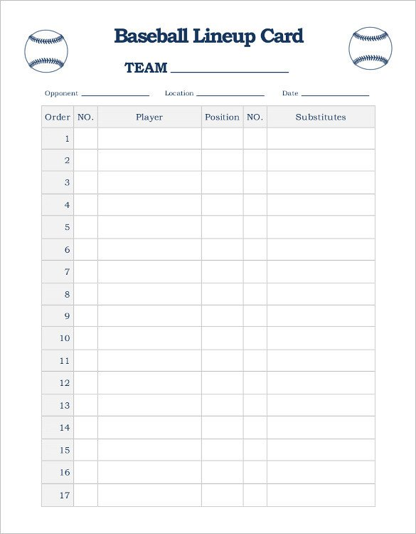 Kickball Roster Template Blank softball Player Profile Template Best