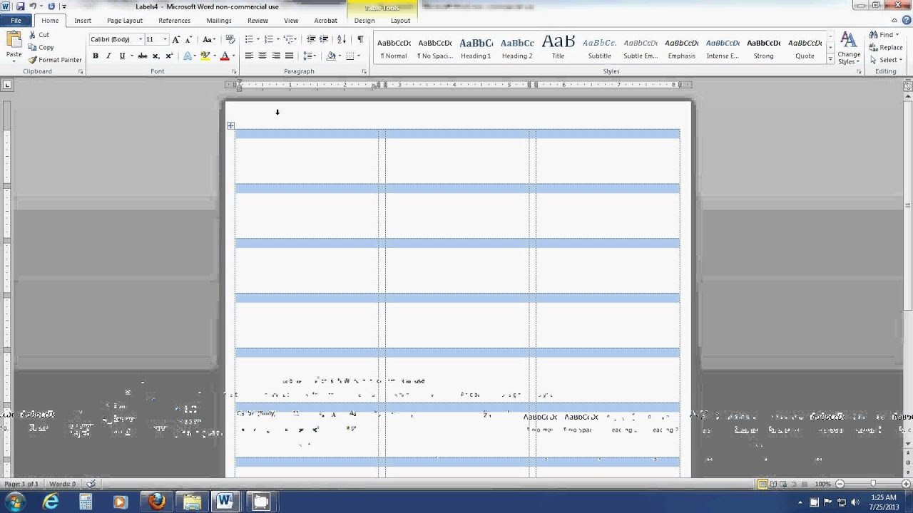 Label Template for Word How to Insert An Image Into A Label Template Sheet In Word