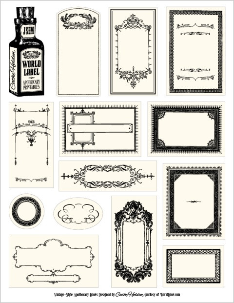 Label Templates Free Download Bottle Labels for Your Apothecary Products