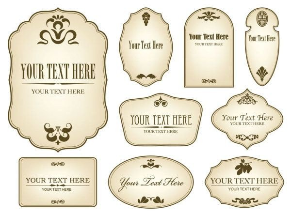 Label Templates Free Download Free Decorative Label Templates